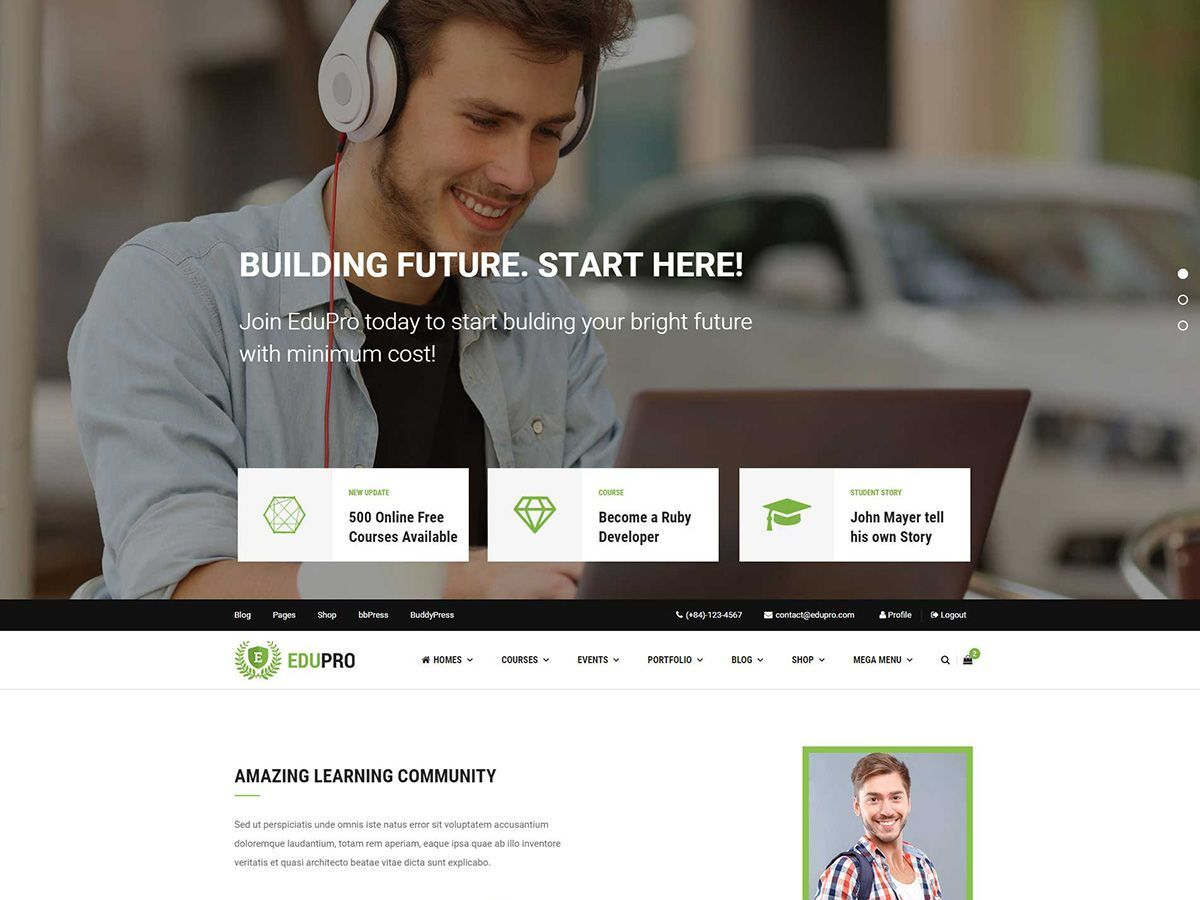 WP theme EduPro
