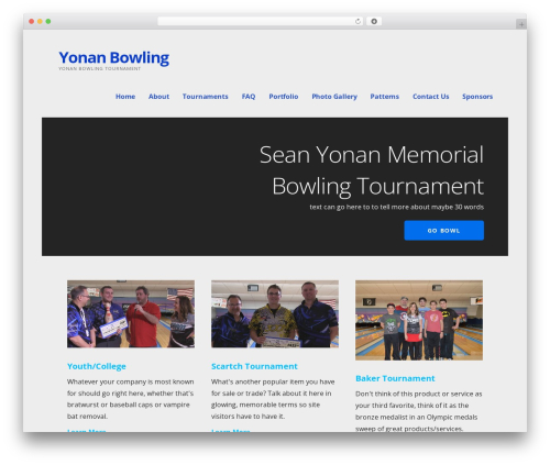 Ascension WordPress theme - yonanbowling.com