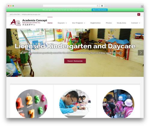 Avada best WordPress template - academiaconcept.com