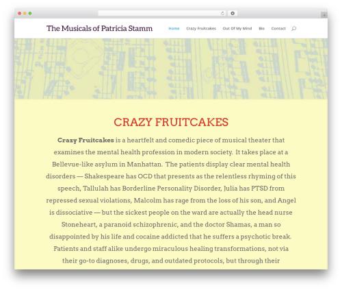 Divi theme WordPress - patriciastammmusic.com