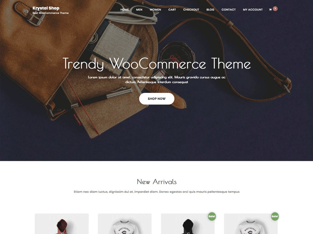 Krystal Shop WordPress store theme
