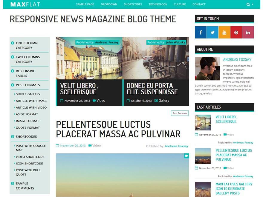 MaxFlat Core Child WordPress blog template
