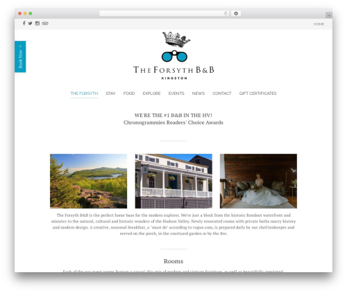 WordPress theme Chester - theforsythkingston.com