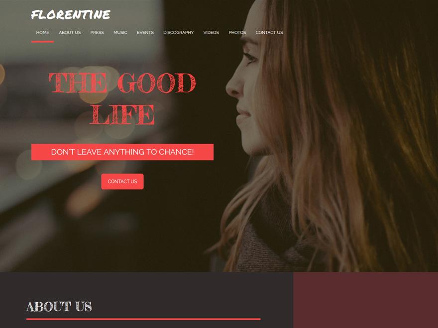 WordPress theme Florentine Child