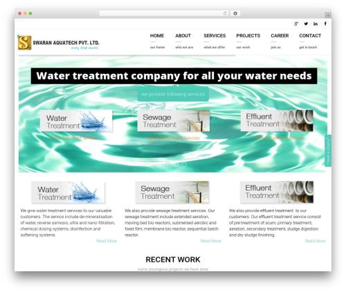 WordPress website template Arkitekt - swaranaqua.com