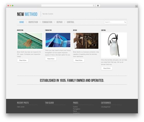 Best WordPress theme Hannari - newmethodtermite.com