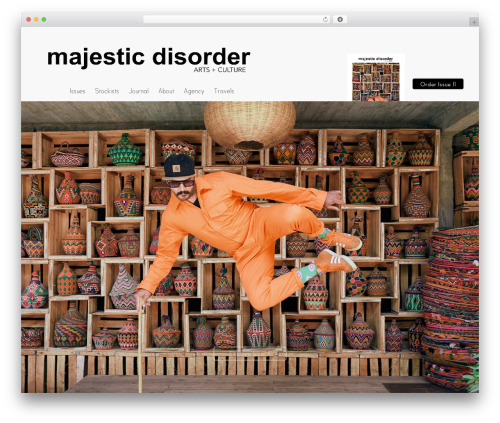 Elegant WP theme - majesticdisorder.com