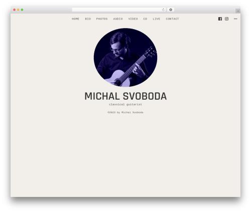 Encore WordPress theme - michal-svoboda.com