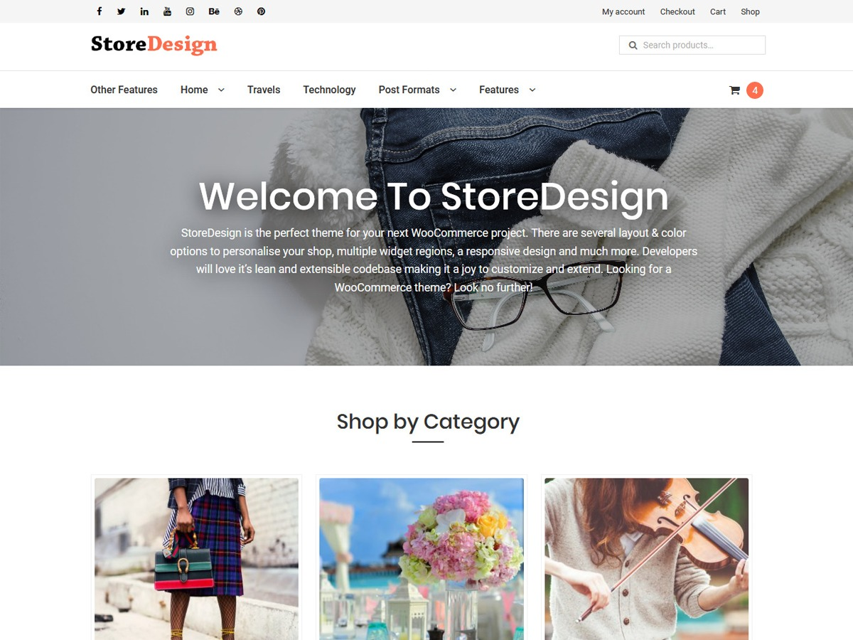 StoreDesign WordPress shopping theme
