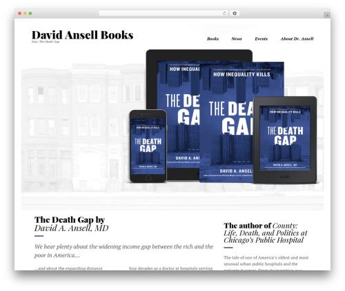 WordPress theme Booker - davidansellbooks.com
