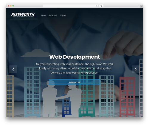 Businessx WordPress template free - riseworth.com