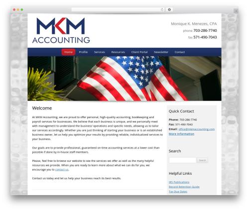 Customized business WordPress theme - mkmaccounting.com