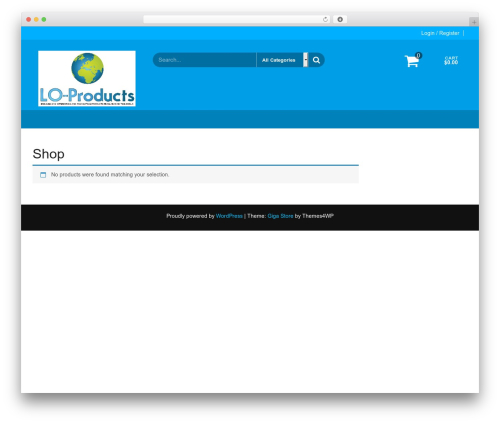 Giga Store theme WordPress free - lo-products.com