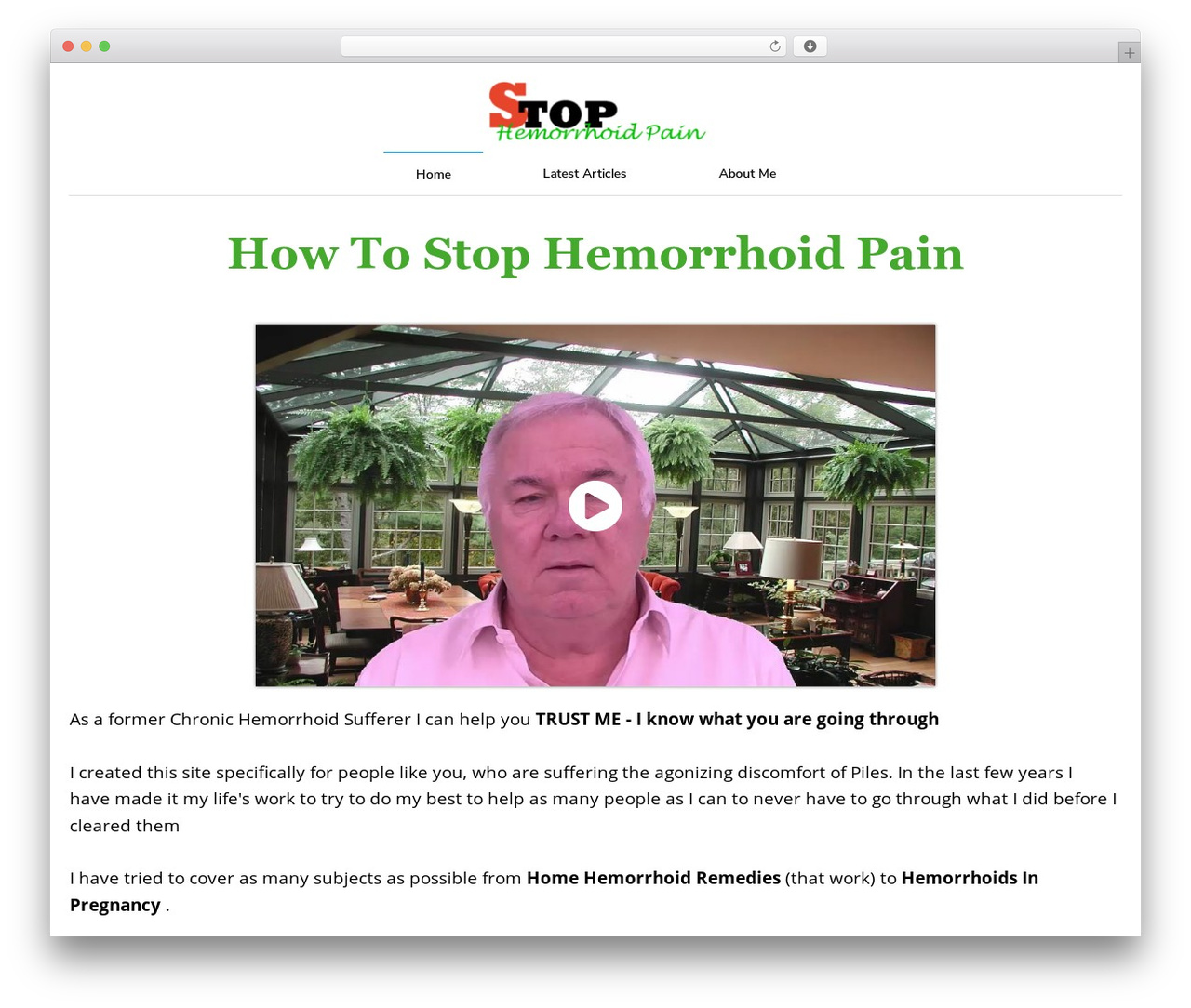 WordPress theme Minus - stophemorrhoidpain.com