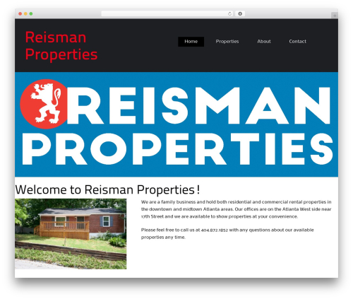 WP template BizFlare - reismanproperties.com