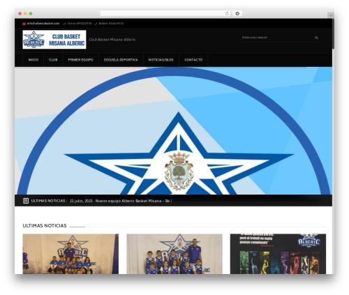 WP template GoalKlub - albericbasket.com