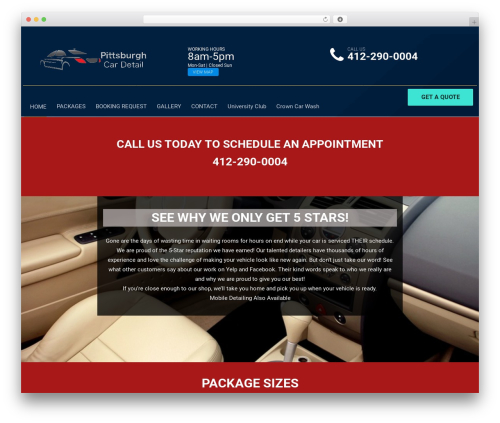 autorepair premium WordPress theme - pittsburghcardetail.com