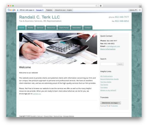 Customized WordPress template for business - terkandassociates.com