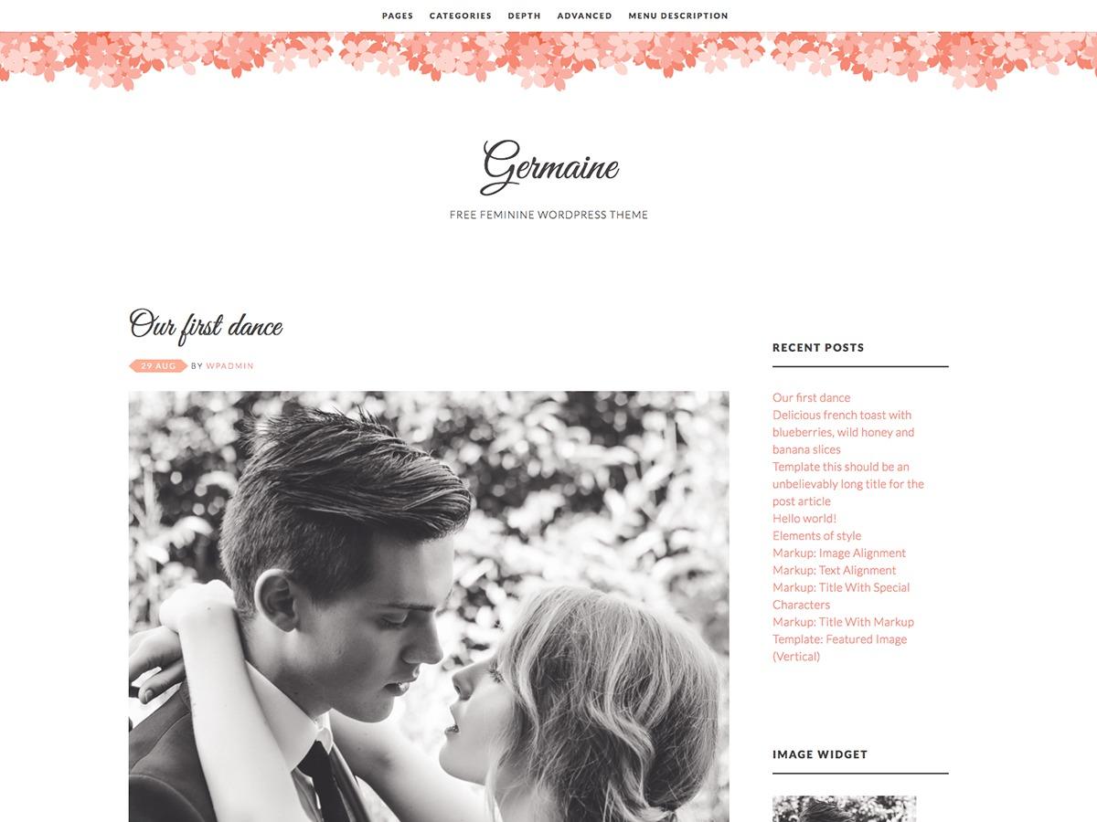 Germaine WordPress blog template