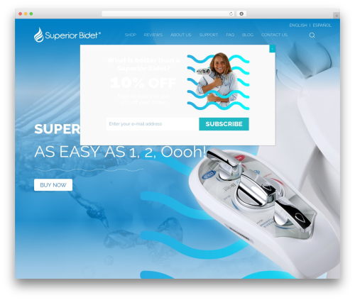 Shopscape WordPress ecommerce theme - superiorbidet.com