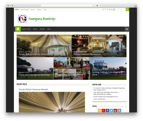 WordPress website template Sahifa (shared on wplocker.com) - samigunabumirejo.com