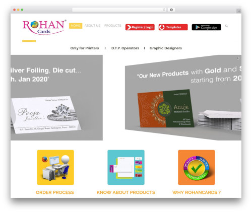 Boldial theme WordPress - rohancards.com