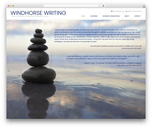 Conica WordPress website template - windhorsewriting.com