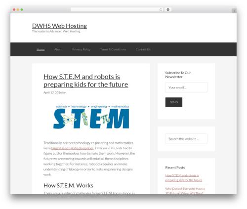 Genesis WordPress website template - dwhswebhosting.com