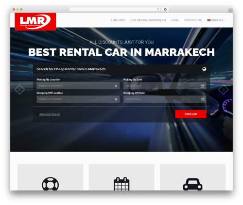 RentIt car rental WordPress theme - lmrcar.com
