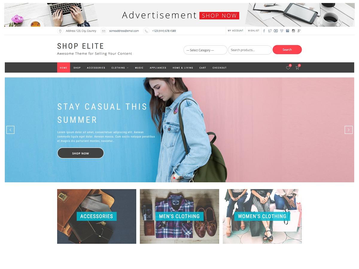 Shop Elite WordPress store theme