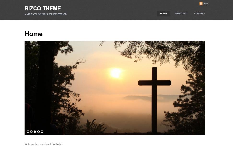 Bizco WordPress page template