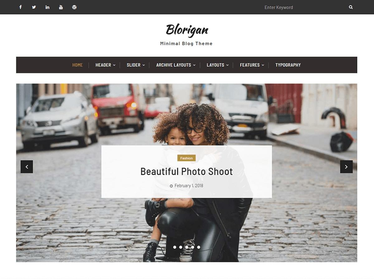 Blorigan WordPress blog template