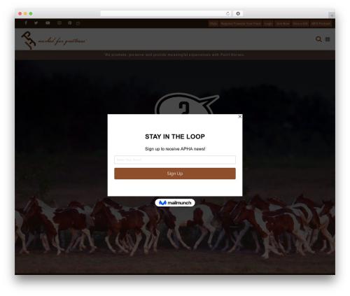 HorseClub WordPress theme - apha.com