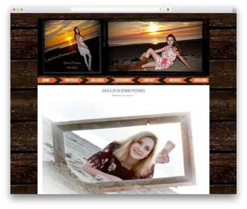 ProPhoto WordPress theme - alakeviewphotography.com