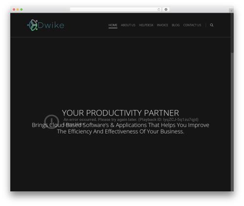 Salient WordPress theme - dwike.com