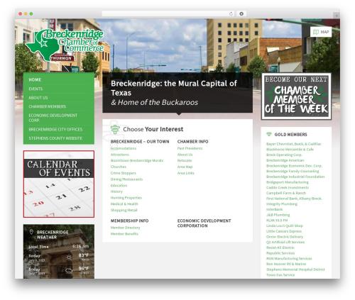 TownPress premium WordPress theme - breckenridgetexas.com