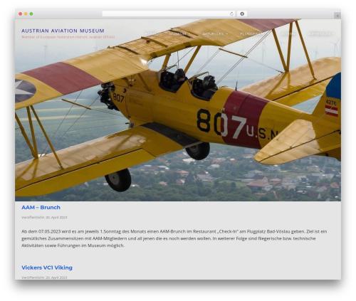 WordPress template Cronus - austrian-aviation-museum.com