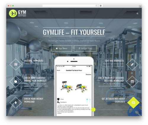 WordPress theme Applay - gymlifeapp.com
