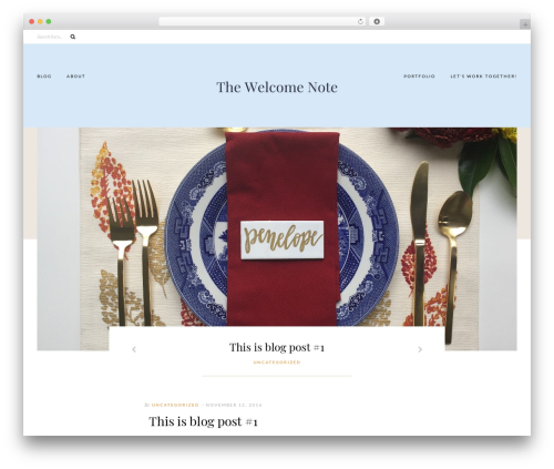 WordPress theme Caroline - thewelcomenote.com