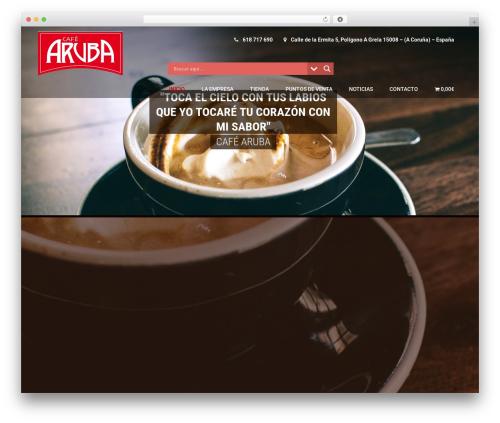Coffee Pro WordPress page template - cafearuba.es