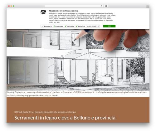Theme WordPress Hind - dres-serramenti.com
