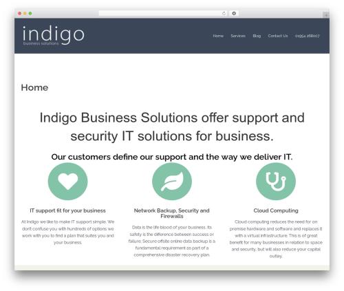WordPress theme Sydney - indigobusiness.com