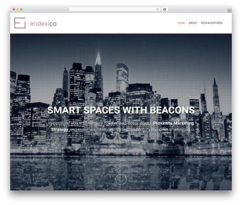 AccessPress Parallax free WP theme - endexico.com