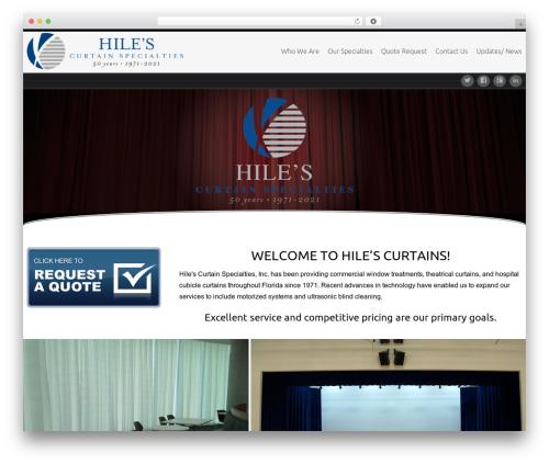 Celestial theme WordPress - hilescurtains.com