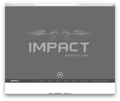 WordPress website template X - impact-rock.com