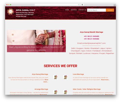AccessPress Parallax WordPress free download - aryasamaj24x7.com