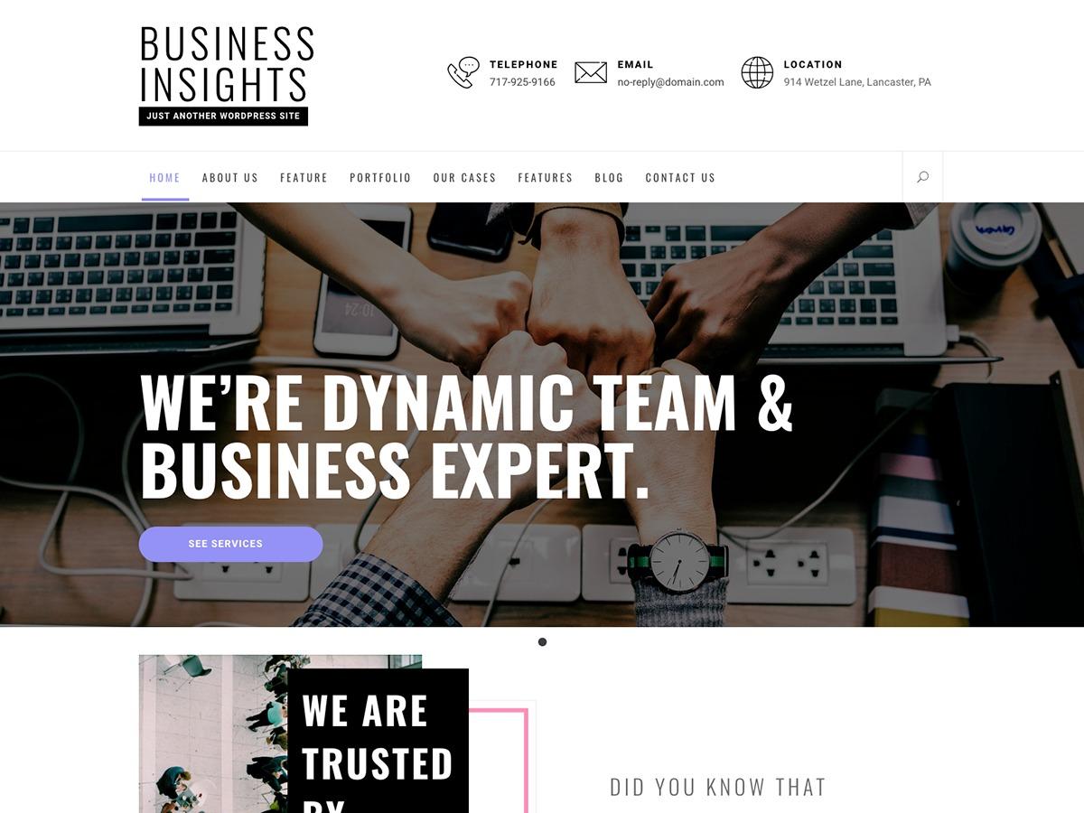 Business Insights WordPress blog template