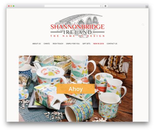 Chester WordPress ecommerce theme - shannonbridgepottery.com