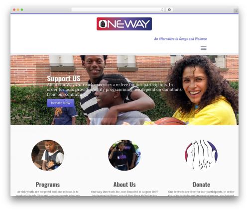 Customizr free WordPress theme - onewayoutreach.com