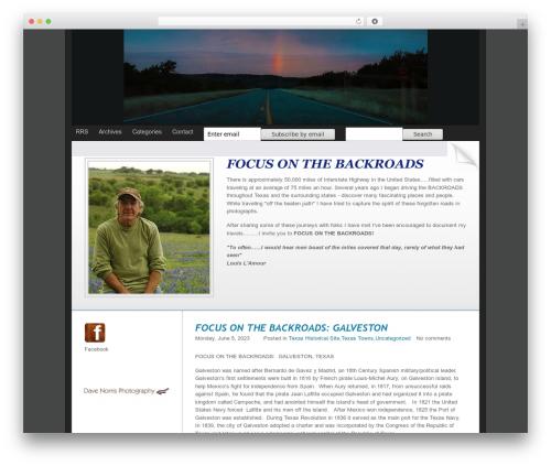 ProPhoto WordPress website template - focusonthebackroads.com